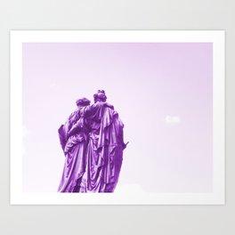 Bffs friends lift each other up Art Print
