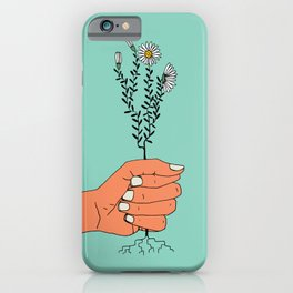 Hold On Tight To Summer (Teal) iPhone Case