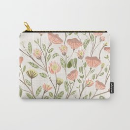 Spring Floral Pattern Carry-All Pouch