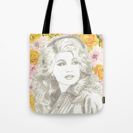 Jolene with Yellow Roses Tote Bag