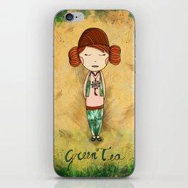 Green Tea Girl iPhone Skin