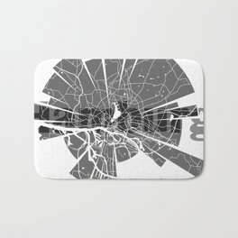 Hamburg Map Bath Mat