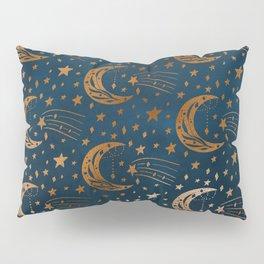 Rose Gold Moon & Star Pattern   Pillow Sham