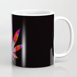 Rainbow Cannabis Leaf Coffee Mug