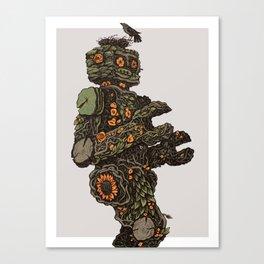 Floral Robot Canvas Print