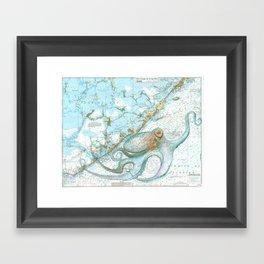 Key Largo Octopus Framed Art Print