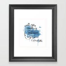 Music's all you need Framed Art Print