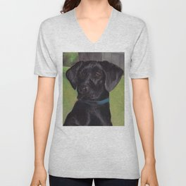 Black Lab Unisex V-Neck