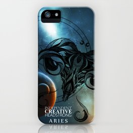 Aries- Independent, Creative and Headstrong iPhone Case