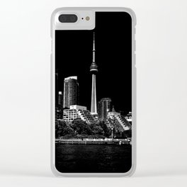 CN Tower From Bathurst Quay Toronto Canada Clear iPhone Case