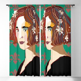 Florentine Spring girl Blackout Curtain