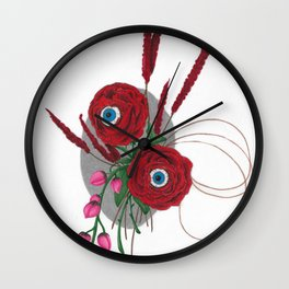 Lovely Looking Roses - Halloween Wall Clock