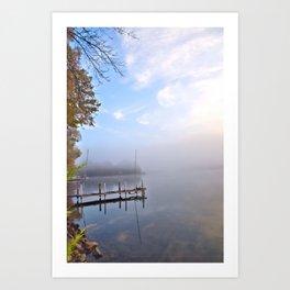 The Adirondacks: Misty October Morning Art Print