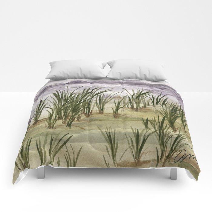 summer storm sea shore Comforters