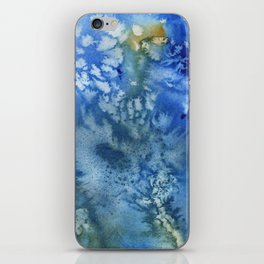Blue Textured Watercolor iPhone Skin