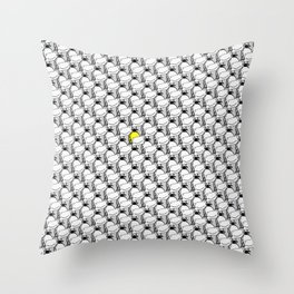 Confuse a frown - Smile VS6 Throw Pillow