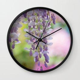 Rustic Wisteria Textured Wall Clock