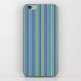 Lime Violet Candy Lines iPhone Skin
