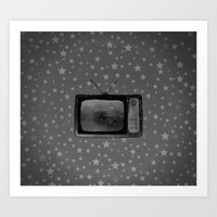 tv Art Prints featuring Television by Mr and Mrs Quirynen