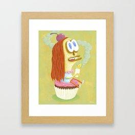 Cherry Cupcake print Framed Art Print