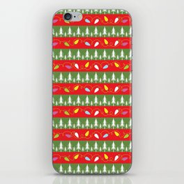 Christmas papers red and green iPhone Skin