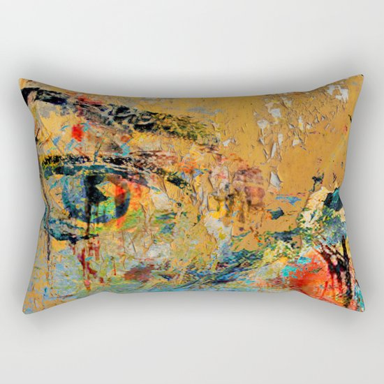 Yellow Wall Rectangular Pillow