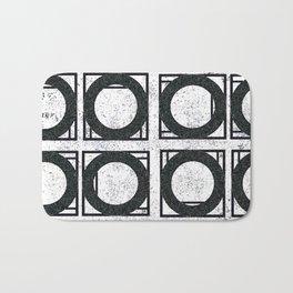 Beyond Zero in black and white Bath Mat