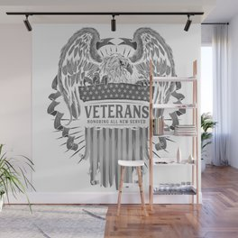 United States of America USA Flag FLYING EAGLE Veterans Tees Wall Mural