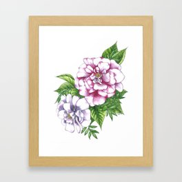 Violet Flowers Framed Art Print