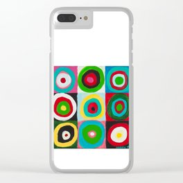 Kandinsky-style Clear iPhone Case