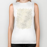 navy Biker Tanks featuring Gold Berry Branches on Navy by Cat Coquillette