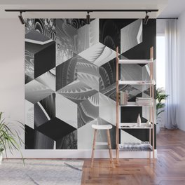 Black and White Process Wall Mural