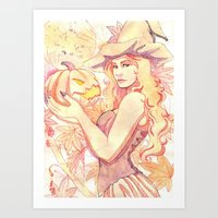 witchcraft Art Prints featuring Witchcraft by Souzou Inc