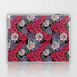 Chevron Floral Black Laptop & iPad Skin