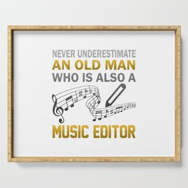 Old Man - A Music Editor Serving Tray