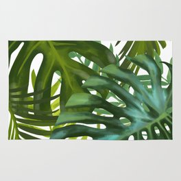 Palm and Monstra Rug