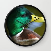 duck Wall Clocks featuring Duck by jamester42