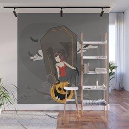 Pin Up Halloween Wall Mural