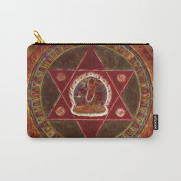 Vajrayogini stands in the center of two crossed red triangles Carry-All Pouch