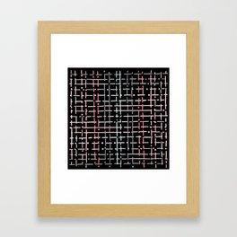 pastel doodle on black Framed Art Print