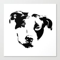 pit bull Canvas Prints featuring Pit Bull by MIX INX