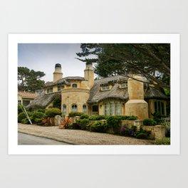 Fairytale Cottage-Style House, Carmel, Monterey County, California Art Print