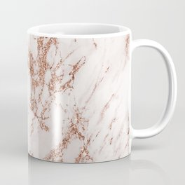 Elegant ivory gray rose gold glitter marble pattern Coffee Mug