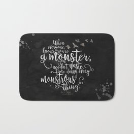 Six of Crows - Monster - Black Bath Mat