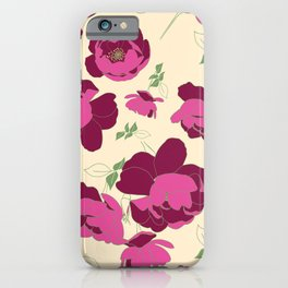 English Roses in Pink and Cream iPhone Case
