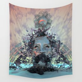 Cerulean Vibrations Wall Tapestry