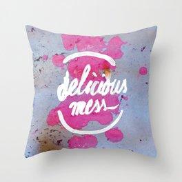 Delicious Mess Throw Pillow