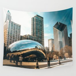 Architecture mirror art Wall Tapestry