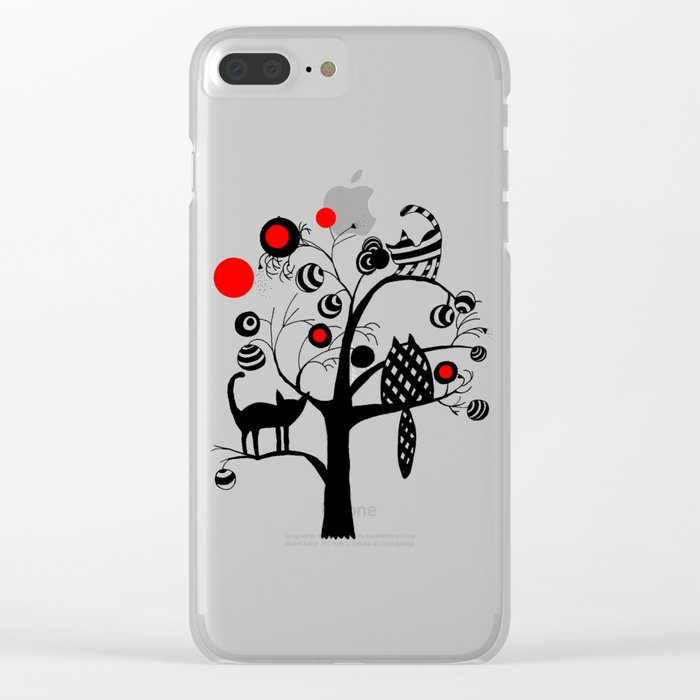 cats and fruits Clear iPhone Case