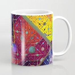 Trapeze Multicolor Diagonal Abstract Coffee Mug